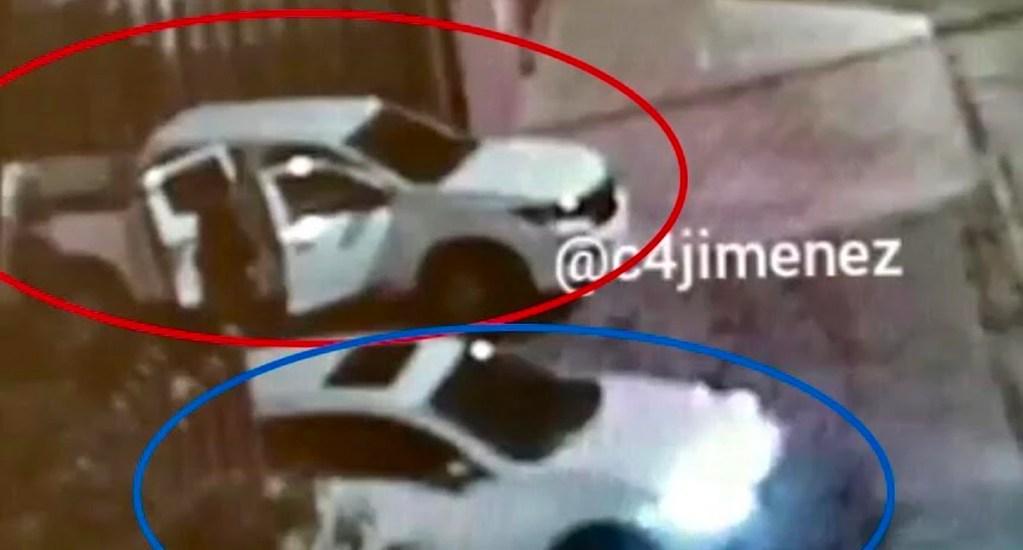 #Video Así se repartieron el botín del robo a casa del Fraccionamiento Valle Escondido - Los presuntos ladrones se reunieron antes y después del robo en la esquina de la entrada a la Agencia de Investigación Criminal (AIC) de la FGR