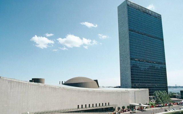 Asamblea General de la ONU adopta propuesta de México sobre medicamentos ante pandemia de COVID-19 - Sede de Naciones Unidas Nueva York. Foto de UN.