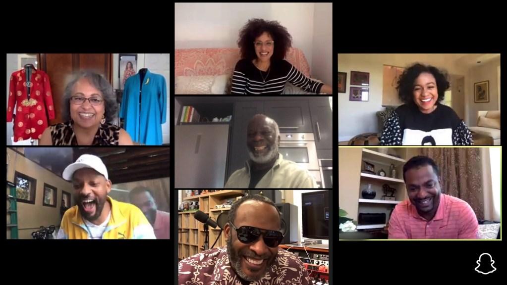 Elenco de 'El príncipe del rap' se reúne a 24 años del final de la serie - Captura de pantalla