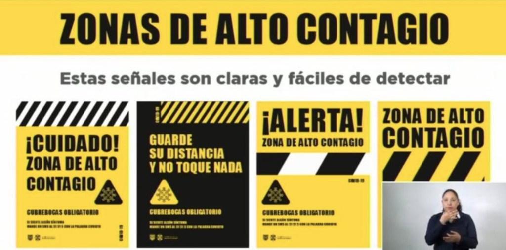 Colocarán carteles en sitios de mayor riesgo de contagio de COVID-19 en CDMX - Captura de pantalla. Gobierno de la Ciudad de México