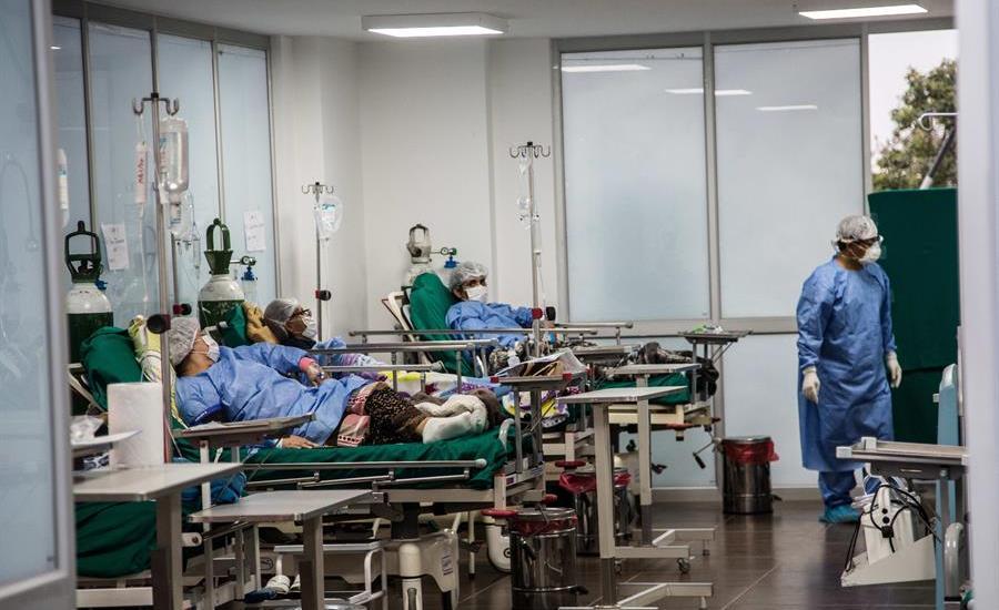 Cae el número de hospitalizados por COVID-19 en Perú - En Perú, la Villa Panamericana fue habilitada como hospital para la atención de pacientes con COVID-19. Foto de EFE.