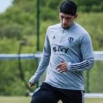 Alan Pulido sufre accidente casero; entrena con normalidad - Foto de @SportingKC