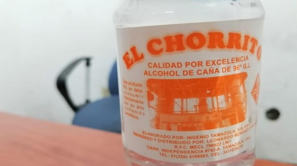 Van 43 muertos por consumo de alcohol adulterado en Jalisco - Bebida alcohólica 'El Chorrito' cuya adulteración causó intoxicación y muertes en Jalisco. Foto Especial