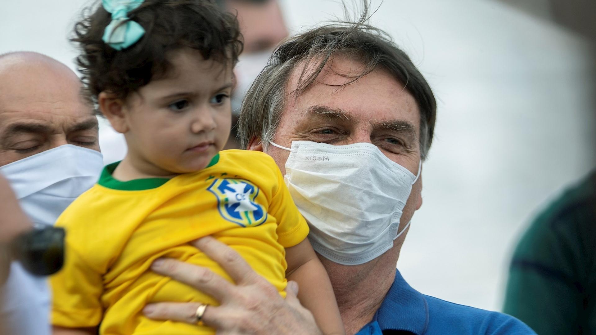 Bolsonaro manifestación protesta COVID-19 Brasil 3