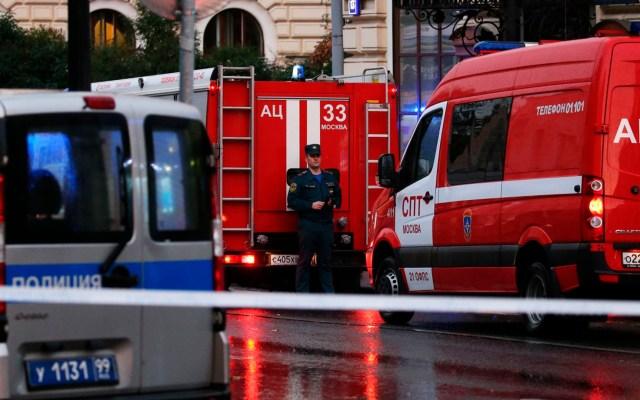 Detienen a hombre que amenazó con detonar bomba en banco de Moscú - bomba banco moscú