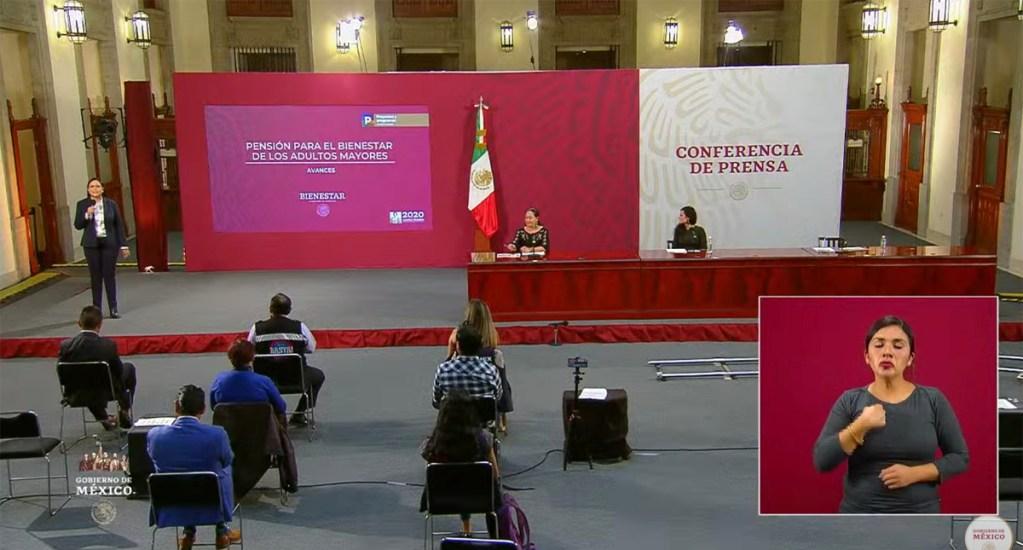 Beneficiarios del programa de adultos mayores recibieron 5 mil 240 pesos por adelanto de pago - Conferencia de programas integrales de Bienestar del Gobierno de México