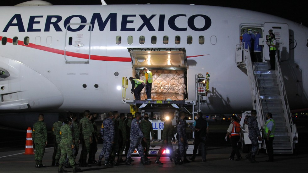 Llega a México décimo vuelo con insumos médicos desde China - Décimo vuelo insumos México China médicos COVID-19