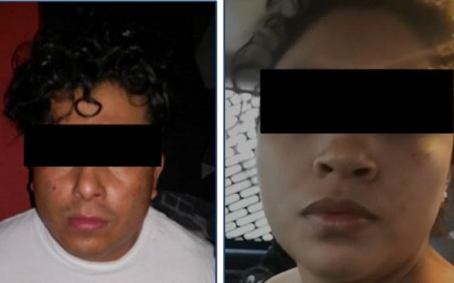 """#Exclusiva Detienen a """"La Princesa de Tláhuac"""", hija de """"El Ojos"""" - Detenidos Diana Karen Pérez Ramírez Alejandro Mendoza Sandoval"""