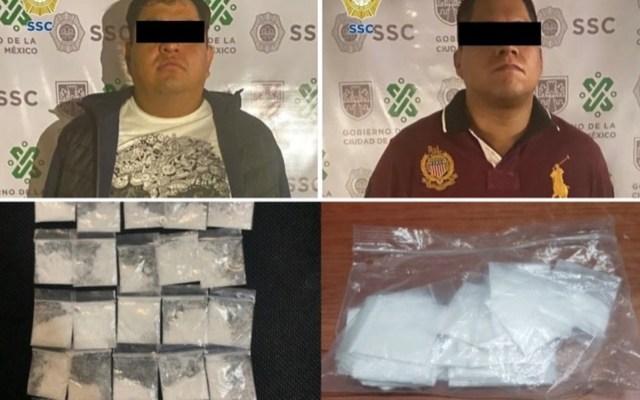 Detienen a dos hombres vinculados a tres homicidios en Peralvillo - Foto de SSC