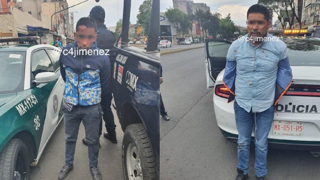 #Video Liberan a sujetos que robaron 50 mil dólares a empresario en la Ciudad de México - Detenidos por robo de 50 mil dólares en efectivo a empresario en la colonia Juárez. Foto de @c4jimenez