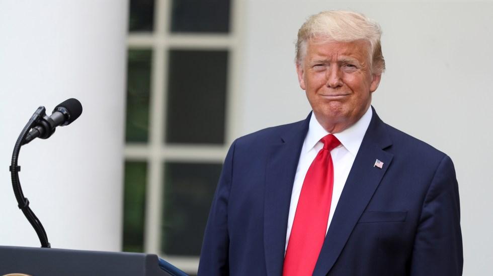 Twitter califica publicación de Trump como información posiblemente engañosa - Donald Trump desde la Casa Blanca. Foto de EFE