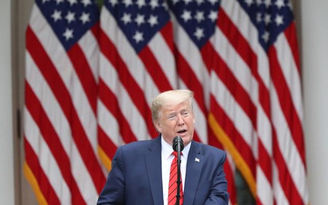 Donald Trump impondrá nuevas restricciones a visas de trabajadores invitados - Donald Trump en conferencia de prensa desde la Casa Blanca. Foto de EFE