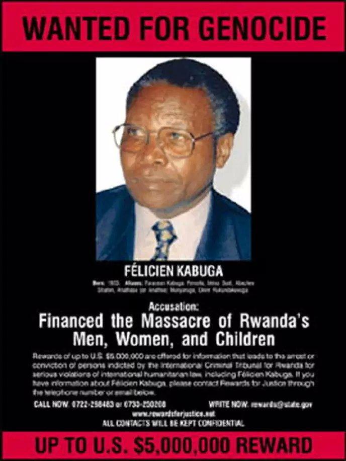fugitivo genocidio de Ruanda