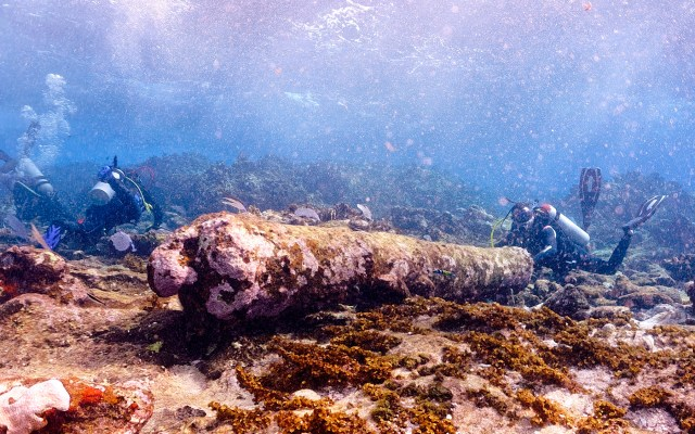 Localizan vestigios de naufragio de más de 200 años en Quintana Roo - Foto de INAH