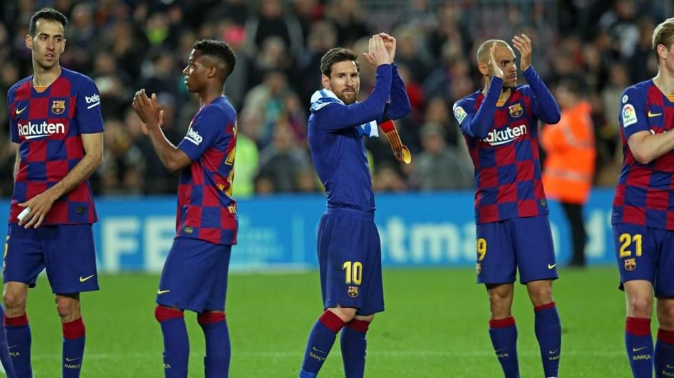 Pensábamos que íbamos a tener más tiempo para trabajar en grupo, declara Setién - Jugadores del FC Barcelona. Foto de fcbarcelona.com