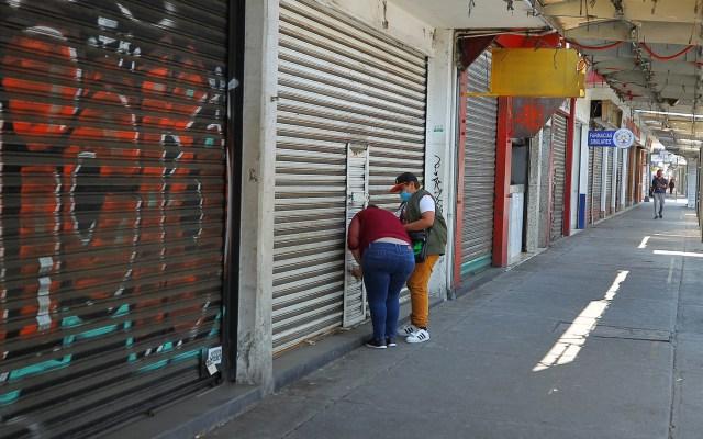 Negocios sufren destrucción histórica en abril; cierran 6 mil 689 - Negocios cerrados en la Ciudad de México por la pandemia de COVID-19. Foto de Notimex