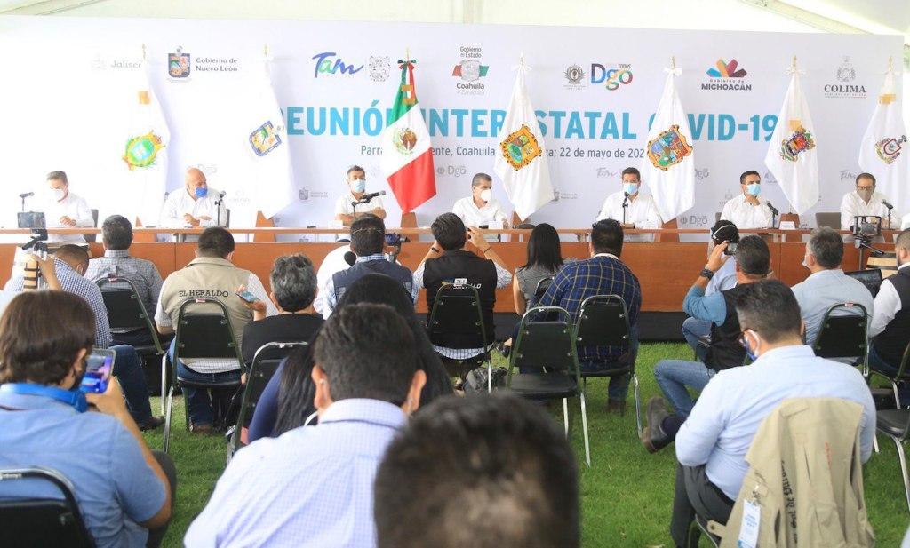 Gobernadores evalúan planes para reapertura parcial - Foto de Twitter @fgcabezadevaca