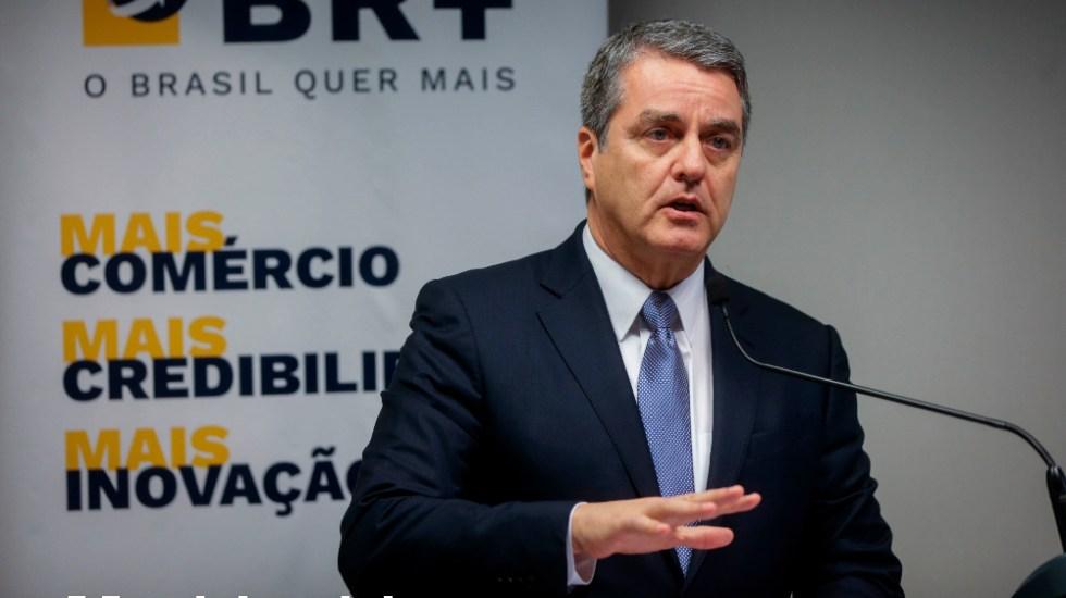 Director general de la OMC dejará el cargo el próximo 31 de agosto - Foto de EFE