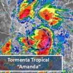 Tormenta Amanda provocará lluvias en siete estados - Tormenta tropical amanda