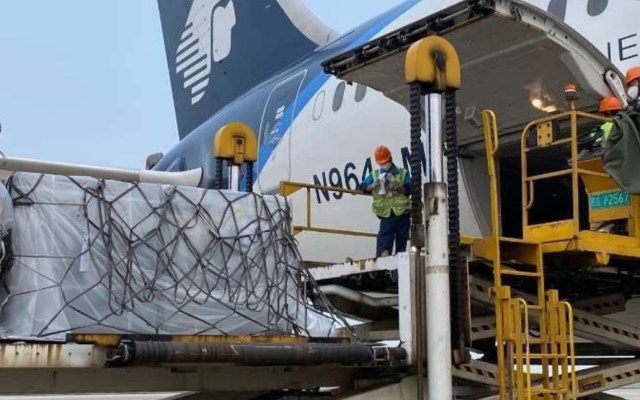 En camino a México el vuelo 11 desde Shanghái con insumos médicos - Vuelo 11 Shanghái México insumos médicos