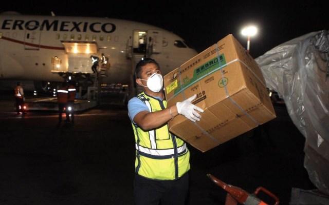 Llega a México el vuelo 14 de China con insumos médicos - Vuelo 14 México China