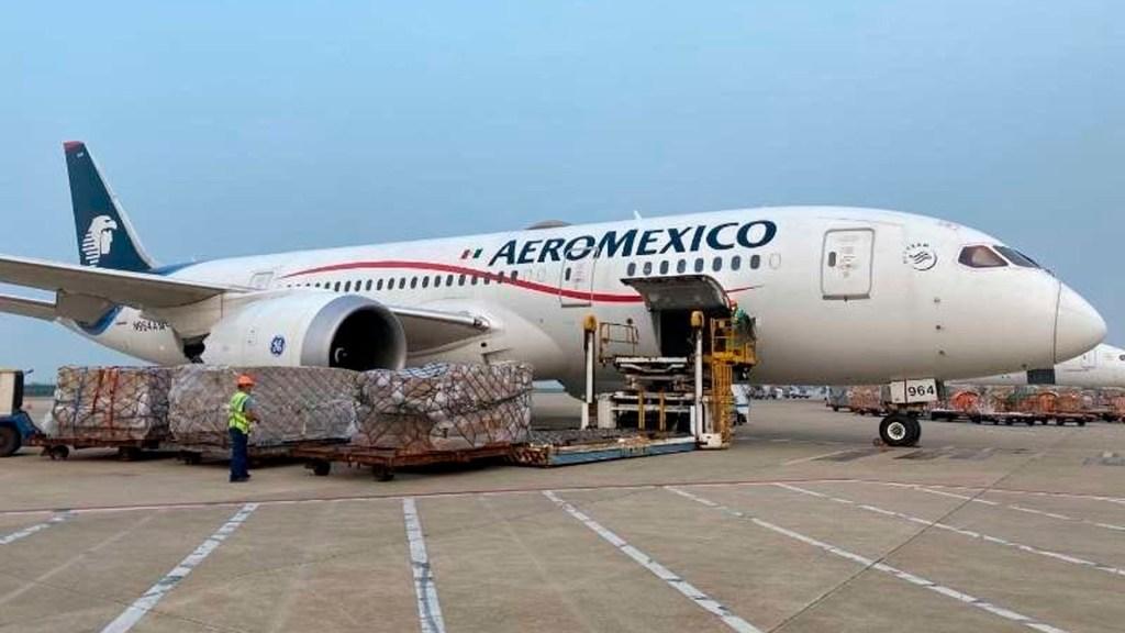 En camino a México decimosegundo vuelo de Aeroméxico desde Shanghái con insumos médicos - vuelo china insumos coronavirus COVID-19