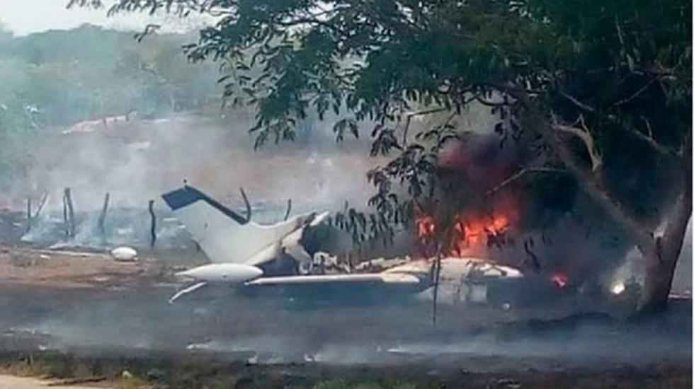 Desplome de avioneta en Chihuahua deja seis muertos - Aeronave siniestrada en Chihuahua. Foto de Milenio