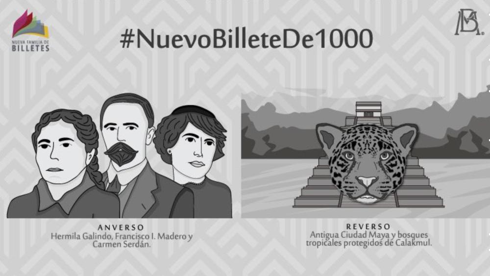 Así será el nuevo billete de mil pesos - Foto de Banxico