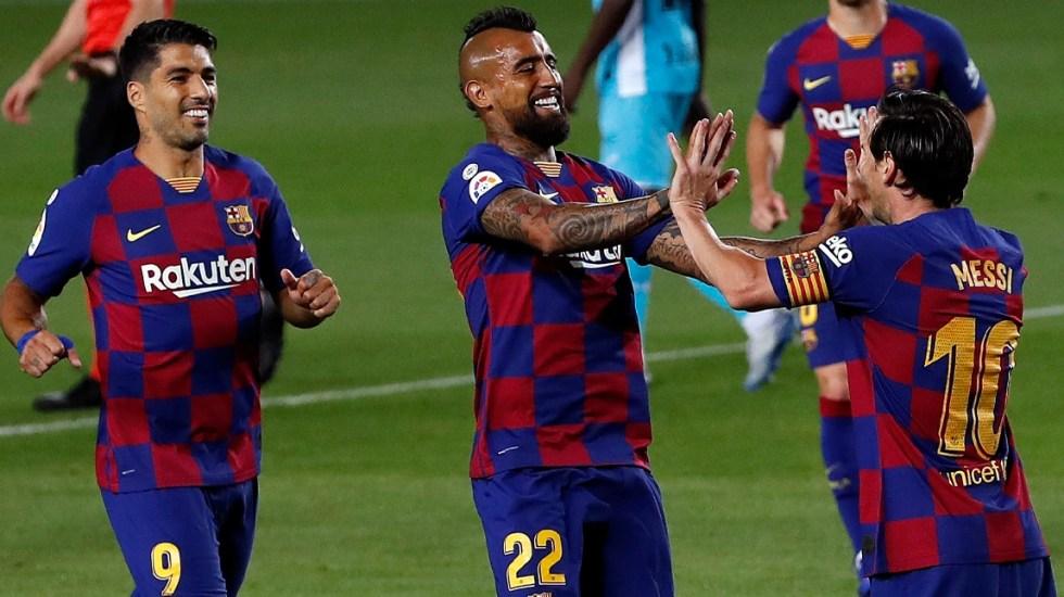 Barcelona vence 2-0 al Leganés de Javier Aguirre - Barcelona vence al Leganés
