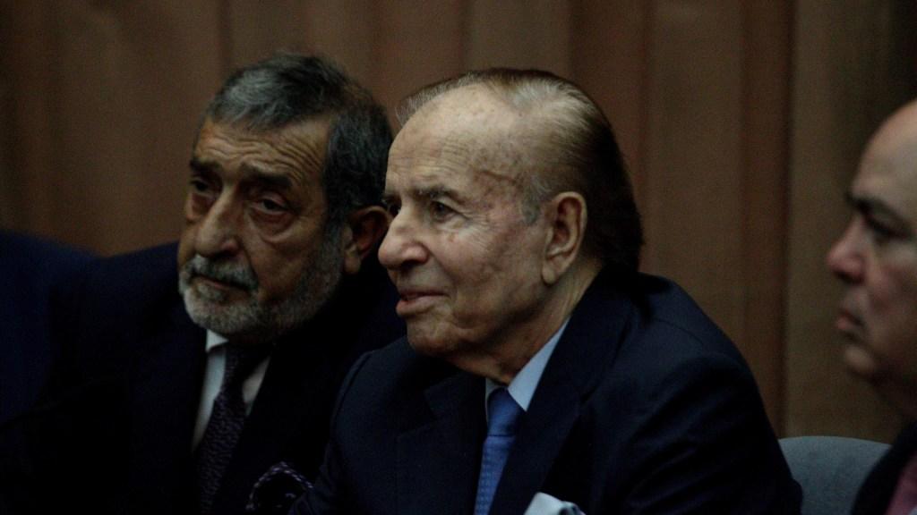 Carlos Menem permanece en cuidados intensivos por neumonía - El expresidente de Argentina, Carlos Menem. Foto de EFE / Archivo