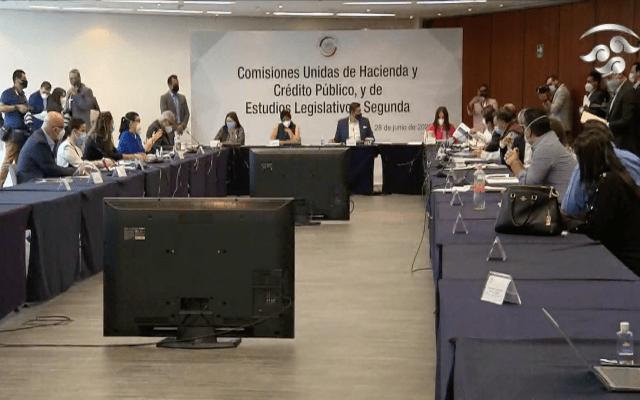 Comisiones Unidas avalan leyes para implementación de T-MEC - Comisiones Unidas del Senado de la República. Captura de pantalla.