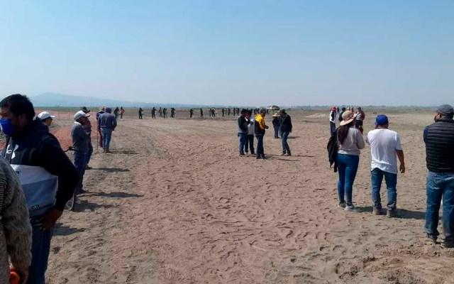 Comuneros mantienen plantón en Santa Lucía por tierras expropiadas - comuneros Santa Lucía