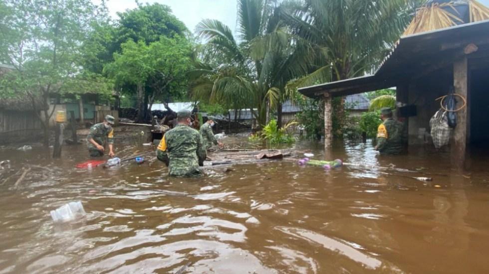 """Muere una persona en Chiapas por tormenta """"Cristóbal"""" - Foto de @SEDENAmx"""