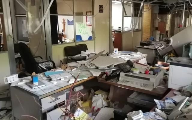 Paristas entregan instalaciones del CCH Sur - Daños al interior del CCH Sur por paristas. Foto de @antonioaranda_
