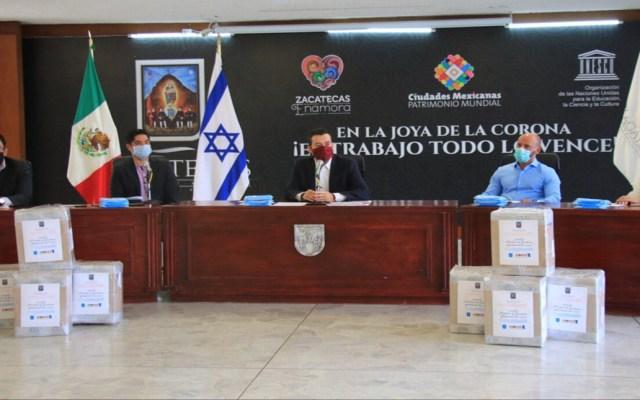 Israel dona 15 mil cubrebocas a México para personal médico - Donación de cubrebocas a personal médico de Zacatecas por parte de Israel. Foto de @IsraelinMexico