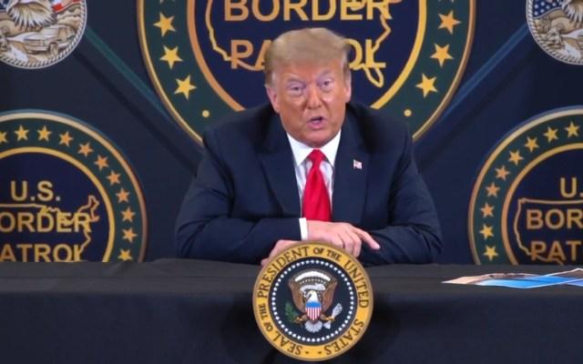 Trump presume que AMLO visitará EE.UU. 'pronto' - Donald Trump en Yuma, Arizona. Captura de pantalla