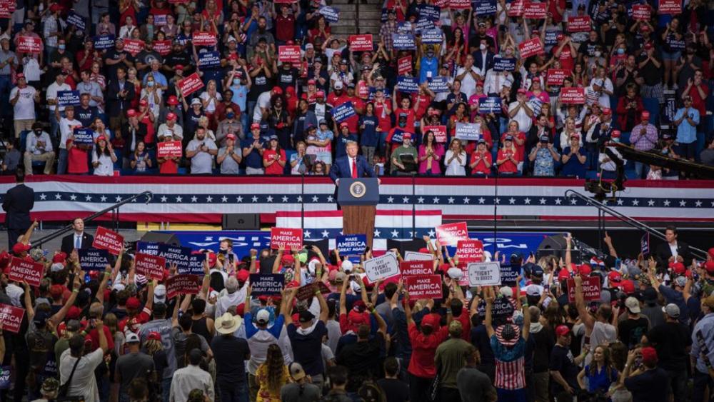 Trump vuelve a los mitines en Oklahoma con miles de asientos vacíos - Foto de @realDonaldTrump
