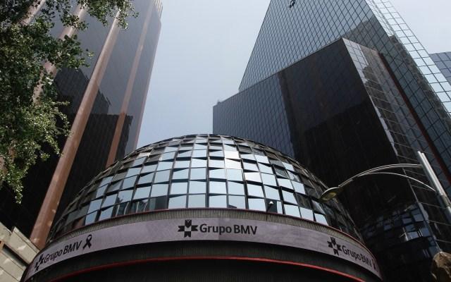 BMV cierra con su mejor ganancia semanal desde julio de 2009 - Edificio de la Bolsa Mexicana de Valores en la Ciudad de México. Foto de Notimex
