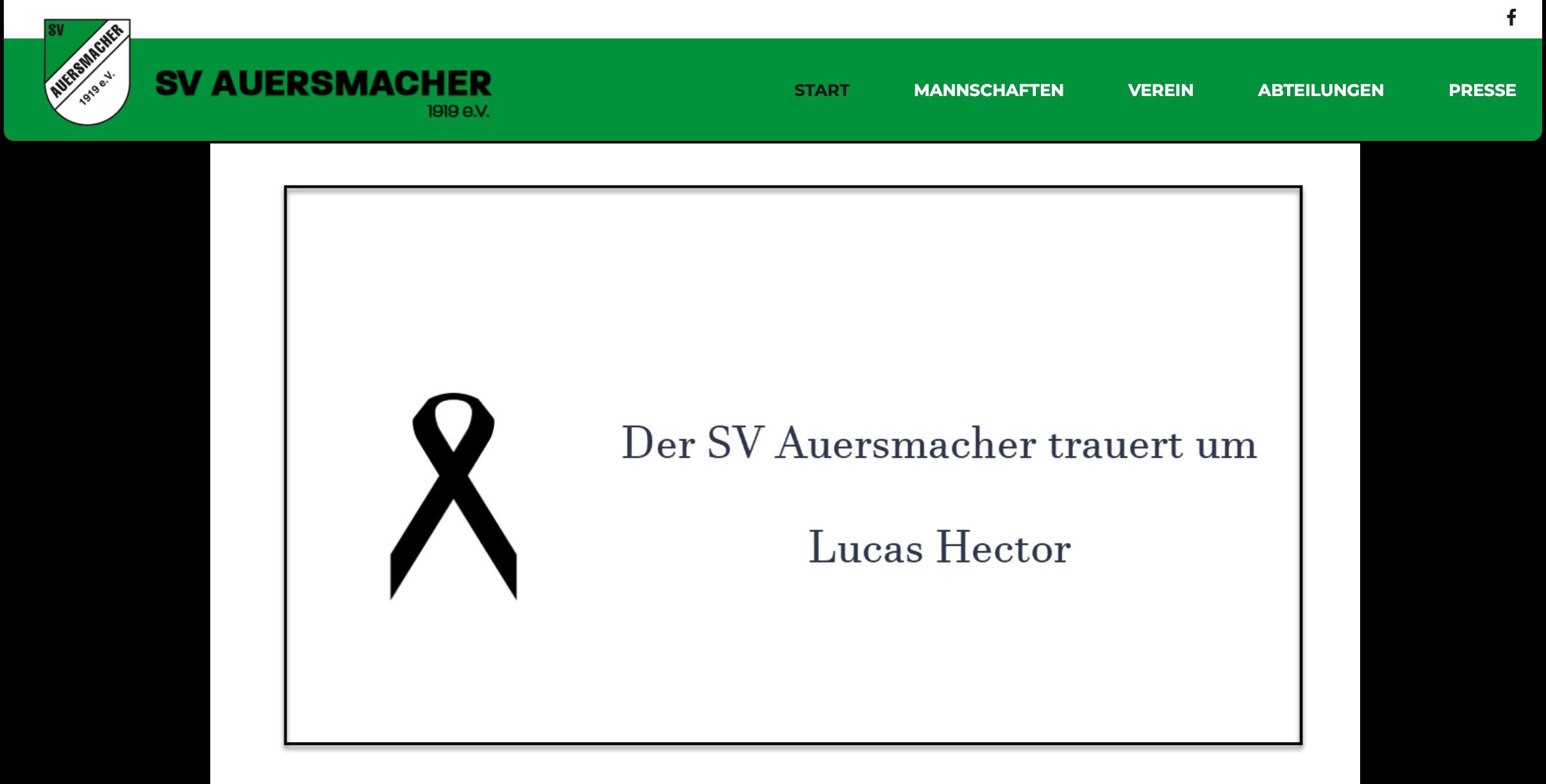 El Auersmacher confirmó la muerte de Lucas Hector