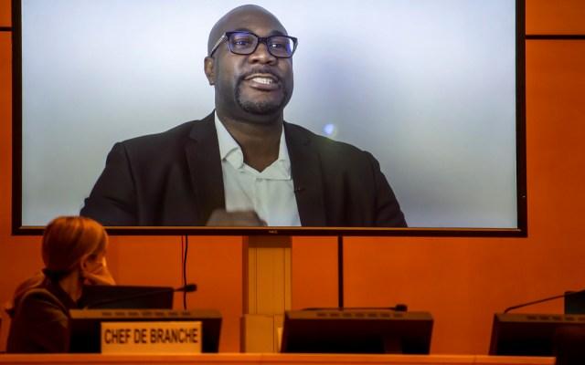 Hermano de George Floyd pide a la ONU ayudar a afroamericanos para obtener justicia - Hermano de George Floyd en un mensaje en video durante la reunión del Consejo de Derechos Humanos de la ONU