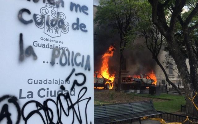 """Se desmarca AMLO de violencia en Jalisco; 'si el gobernador tiene pruebas, que las presente"""" - Jalisco Guadalajara protestas"""