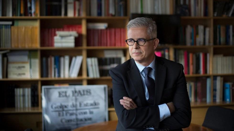 Javier Moreno, nombrado director de El País - Javier Moreno en la Escuela de Periodismo UAM-EL PAÍS en 2017. Foto de El País