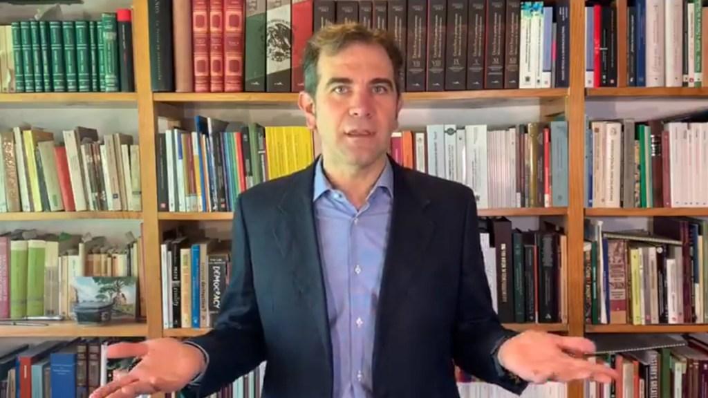 Triunfo de AMLO en 2018 fue legítimo y democrático; 2021 requiere autoridad autónoma e independiente: INE - Lorenzo Córdova Vianello, consejero presidente del INE. Captura de pantalla