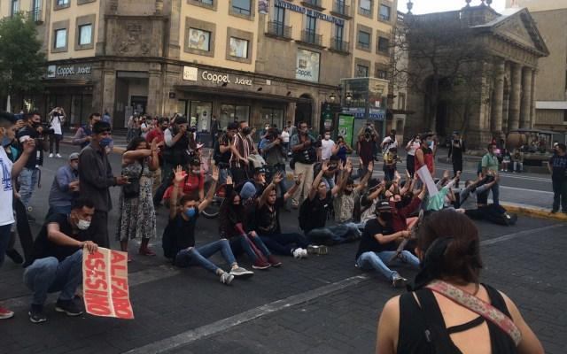 MC acusa a Morena de promover campaña contra Gobierno de Jalisco - Manifestación en Centro Histórico de Guadalajara el 4 de junio, por muerte de Giovanni López. Foto de Notimex