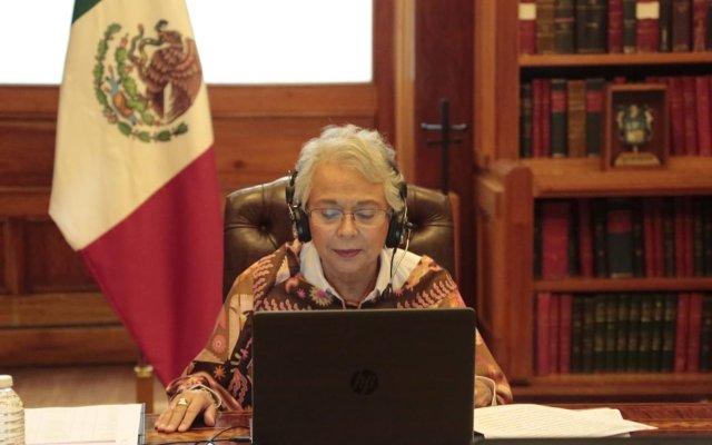 Semáforo por entidad se enviará a gobernadores cada martes, explica Sánchez Cordero - Foto de Twitter Olga Sánchez Cordero