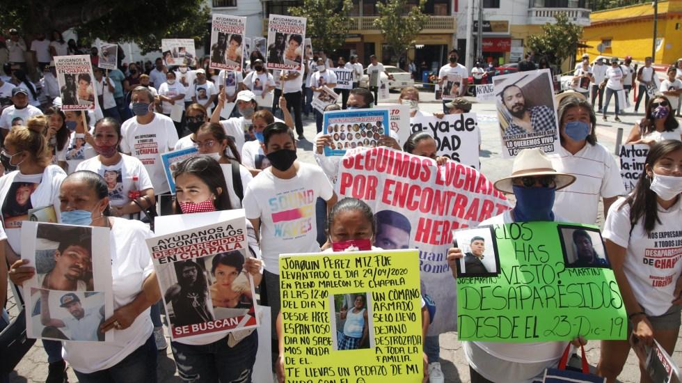 Senado aprueba competencia de la ONU para recibir denuncias de desaparición forzada en México - Protesta por la desaparición de personas en Jalisco. Foto de EFE