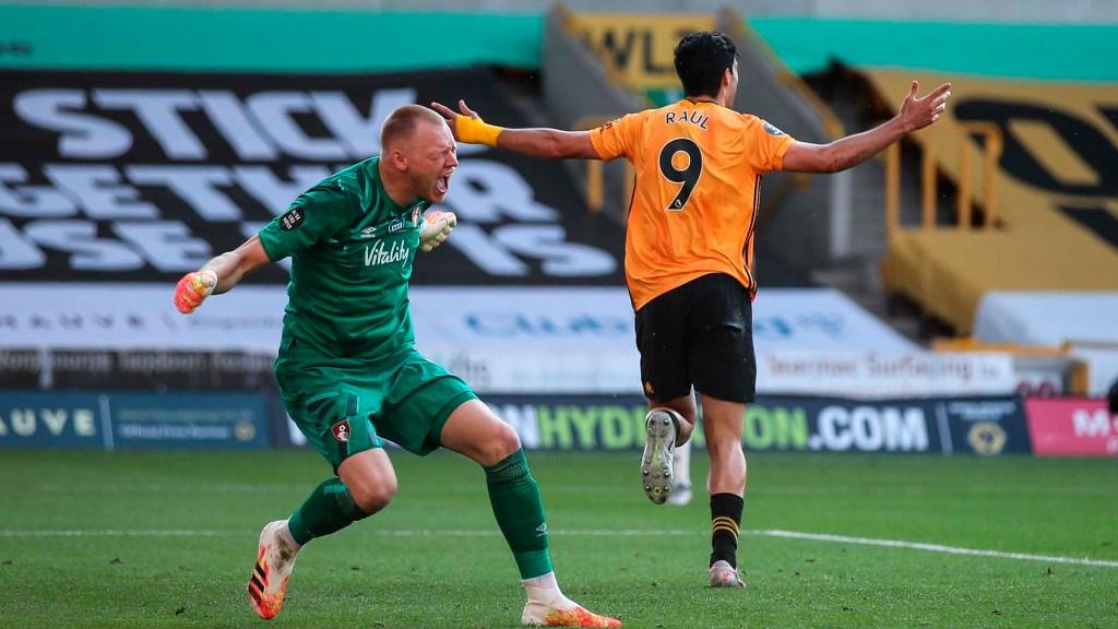 #Video Raúl Jiménez da la victoria a los Wolves ante el Bournemouth - Raúl Jiménez. Foto Especial / Wolves .