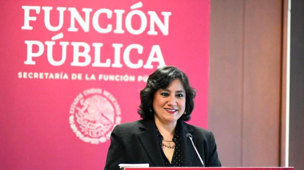 SFP inhabilita por más de dos años a farmacéutica tras falsear información - Secretaria Irma Eréndira Sandoval