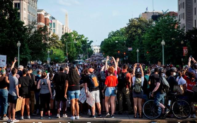 Washington retumba con la mayor protesta desde la muerte de George Floyd - Washington protesta en contra del racismo.