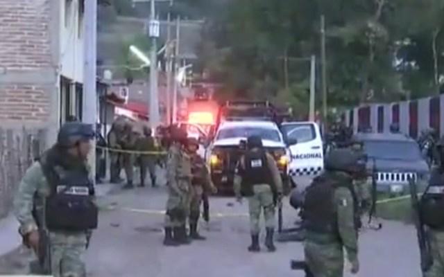 #Video Miembro de la Guardia Nacional muere en enfrentamiento en Jalisco - Zona de enfrentamiento entre Guardia Nacional y comando en Unión de Tula, Jalisco. Captura de pantalla / Milenio